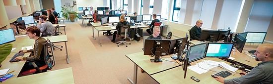 VeriCon - overzicht van de werkplekken begin maart 2020